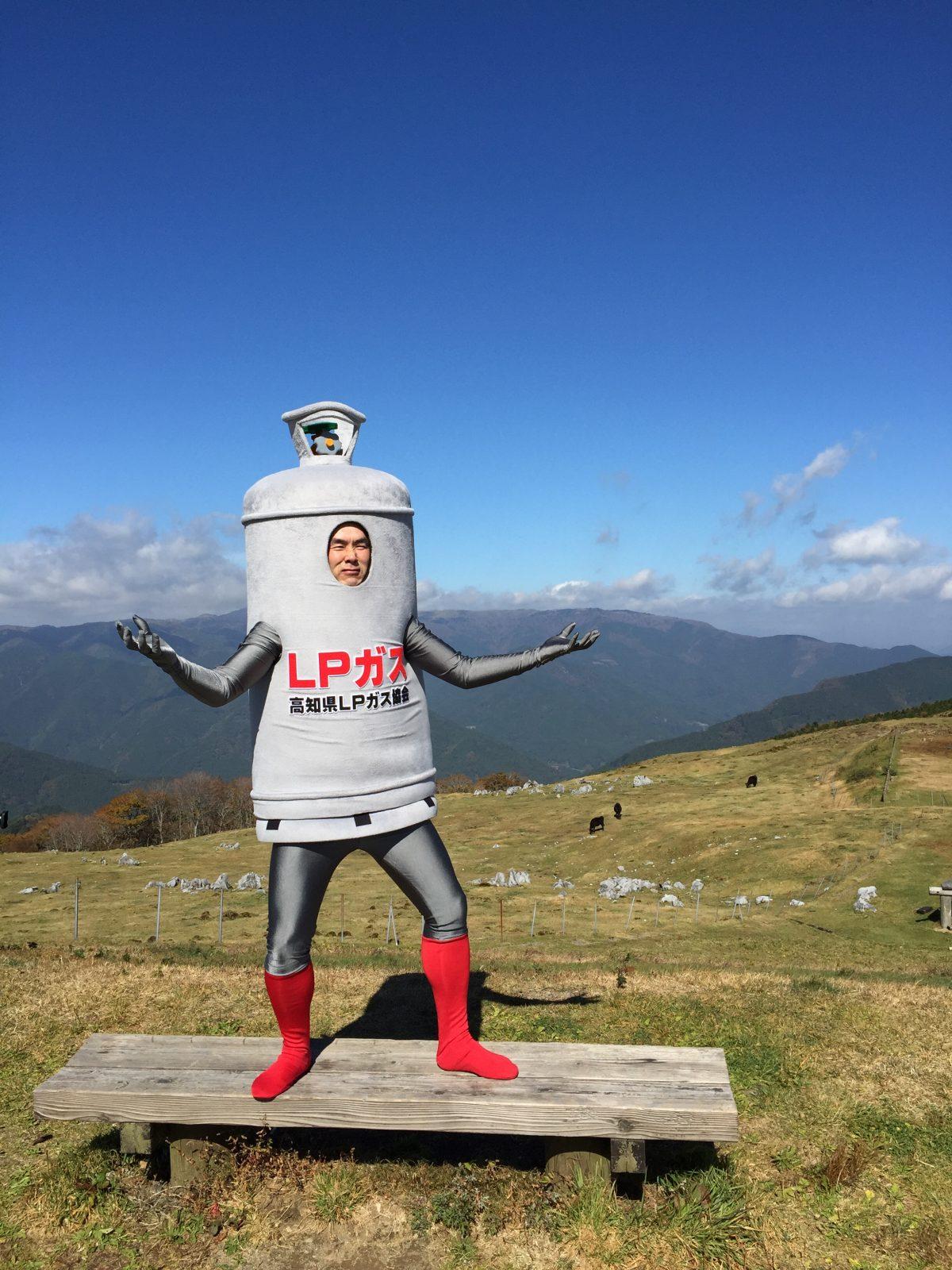 天狗高原で佇むLPマン