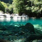 【高知の滝めぐり6 飛龍の滝】仁淀川水系の一つ、安居渓谷の仁淀ブルーを堪能してきました。