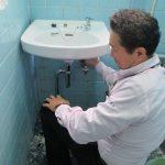 ガス屋さんが、、、行う洗面器の取り替え工事