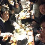 土佐洋さんの社内研修会後の新年会。ここからが本番だそうです(笑)