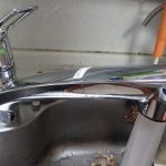 ハンドシャワーホースからの水漏れ、台所の蛇口(ワンホールタイプ)の取替え