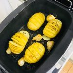 デリシアプリで作るスウェーデン料理『ハッセルバックポテト』