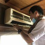 夏本番にエアコンの効きが悪いと困ります。エアコンクリーニングをしてきました。