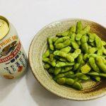 デリシアプリで作る、ビールのあて!簡単焼き枝豆!