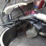 キッチンのワンホール型シングル混合水栓を交換しました。