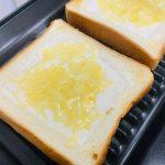 +Rレシピで作る「レアチーズケーキ風トースト」